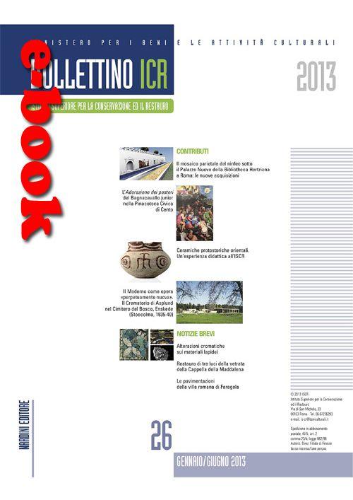 Bollettino icr 26 versione digitale - Nardini Editore
