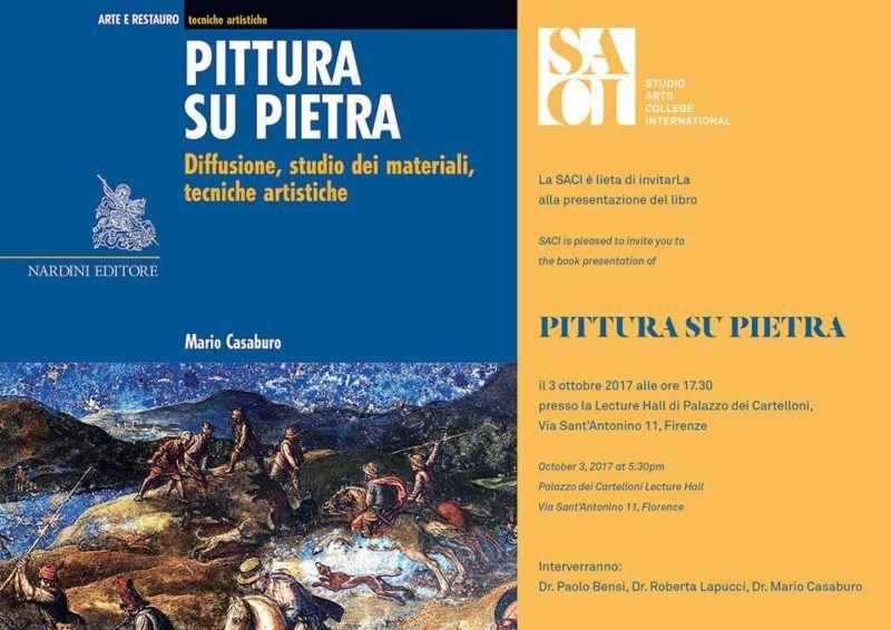 Pittura su Pietra di Mario Casaburo al SACI di Firenze. 3 ottobre 2017