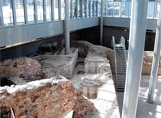 Treviri (Germania). Museo delle Terme Romane (IV sec. d.C.), veduta interna