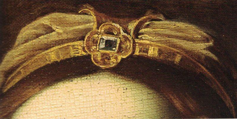 Michele Desubleo, Venere piange la morte di Adone, dettaglio del diadema di Venere