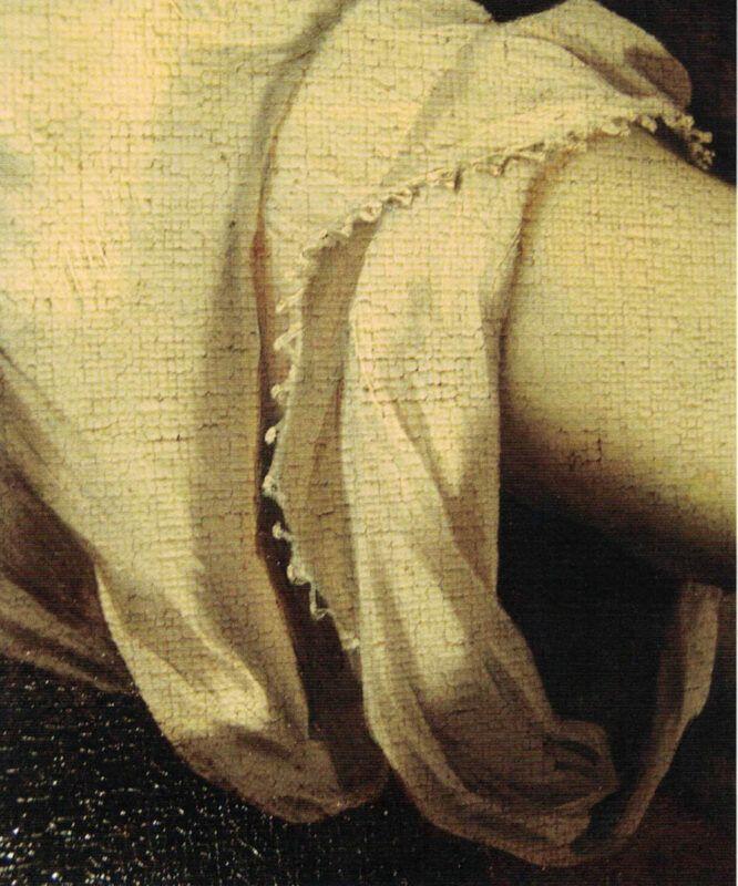 Michele Desubleo, Venere piange la morte di Adone, dettaglio della manica sinistra di Venere