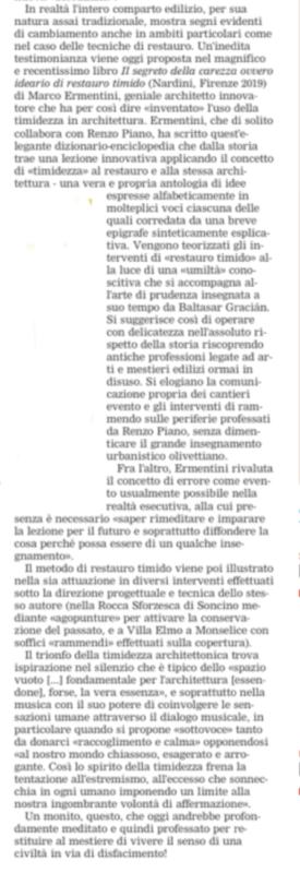 """""""Il segreto della bellezza"""" di Marco Ermentini. Segnalato da La Gazzetta del Mezzogiorno"""